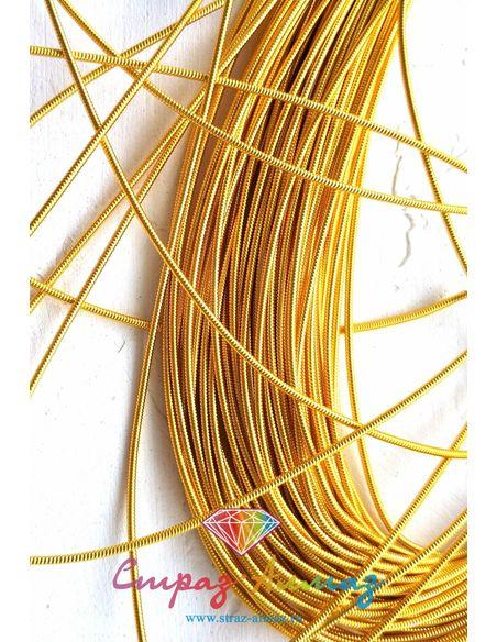 Канитель К02 жесткая золото 1.25 мм.