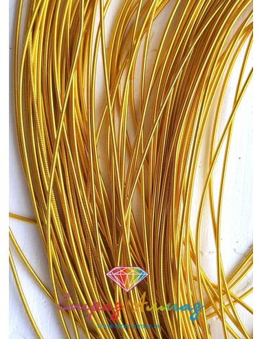 Канитель К01 жесткая золото 1 мм.