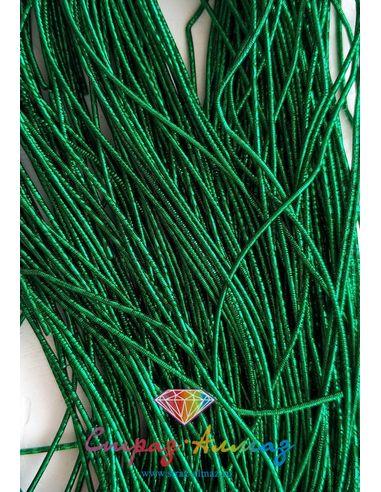 Канитель NEW! плотная граненая К23 темно-зеленая 1 мм.