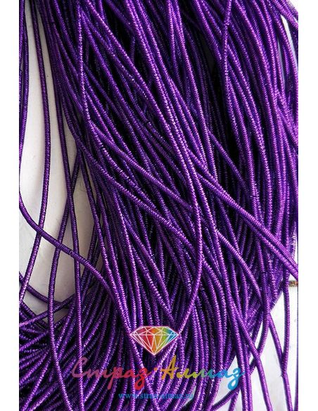 Канитель NEW! плотная граненая К26 фиолетовая, 1 мм.