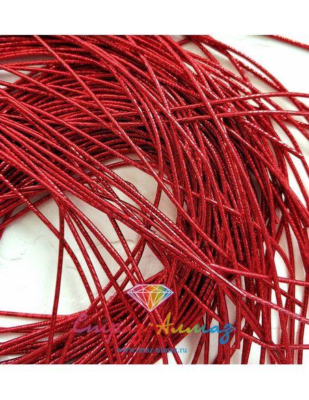 Канитель NEW! плотная граненая К60 красный, 1 мм.