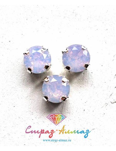 Шатон в серебристых цапах качество люкс, 8 мм., цвет 135, розовый опал