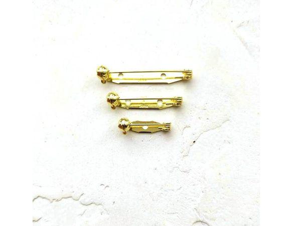 Булавка для броши 28 мм. цвет золото