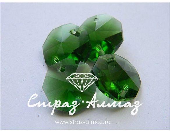 Октагон, 14 мм., зеленый.