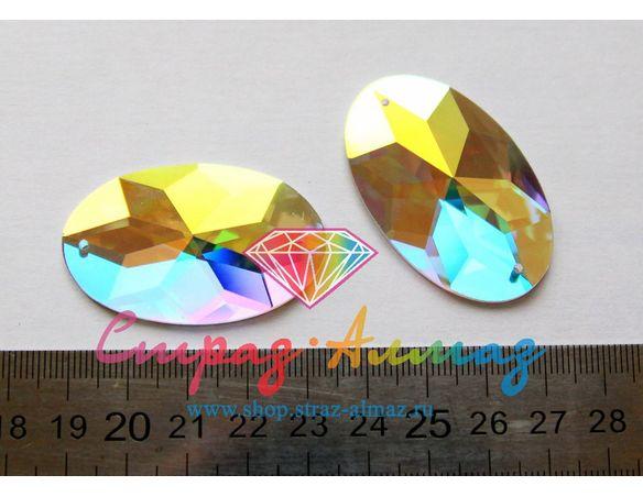 Овал, 28х45 мм., кристалл АВ