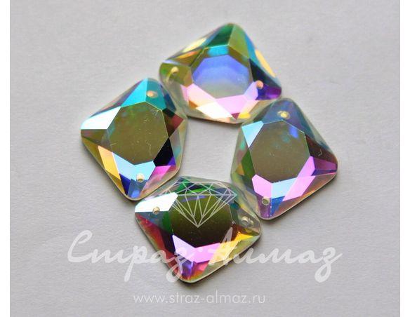 Скат, 17х17 мм., кристалл АВ