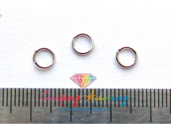 Соединительные колечки, 4 мм.