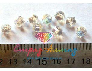 Бусина галактик, 8 мм., кристалл АВ