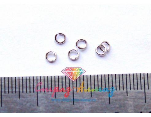 Соединительное колечко, диаметр 2 мм.