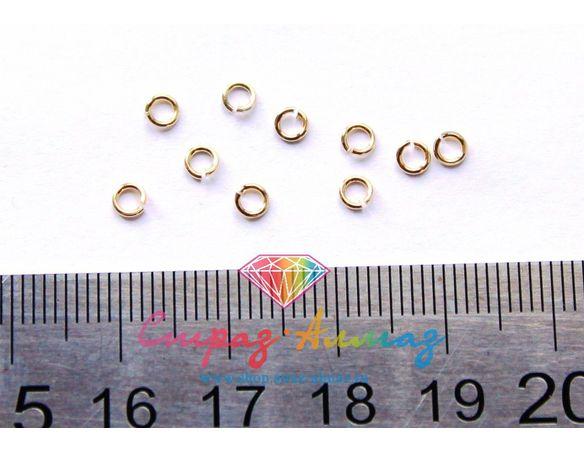 Соединительное колечко (золото), диаметр 2 мм.