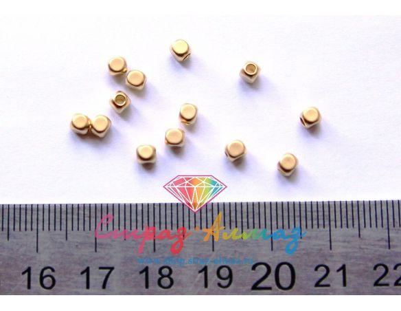 Бусина 3*3 мм. (золото)