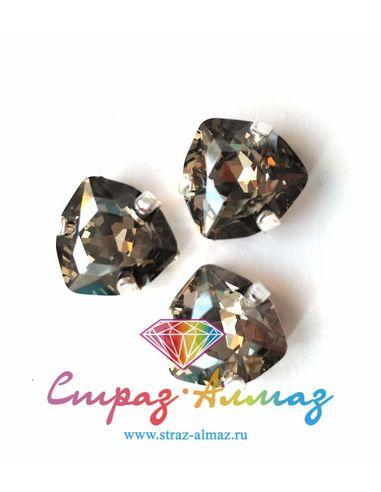 Триллиант в серебристых цапах качество люкс, 12 мм., цвет 150, силвер шэдоу