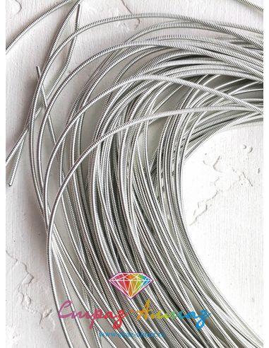 Канитель К04 жесткая серебро 1.25 мм.
