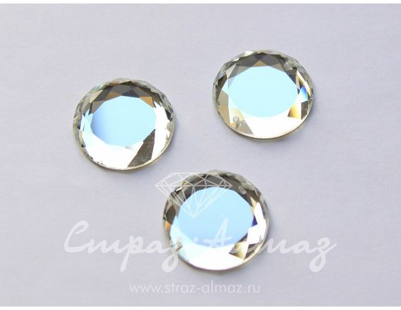 Круг-зеркальце, 20 мм., кристалл