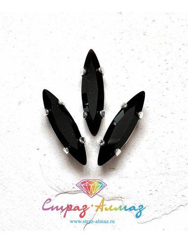 Сфинкс в серебристых цапах качество люкс 4х15 мм., цвет 103, джет