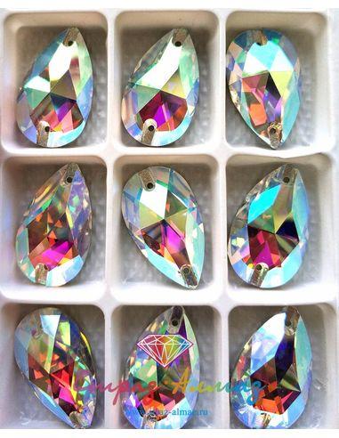 Капля 17*28 мм. кристалл АВ 1 пачка (36 шт).
