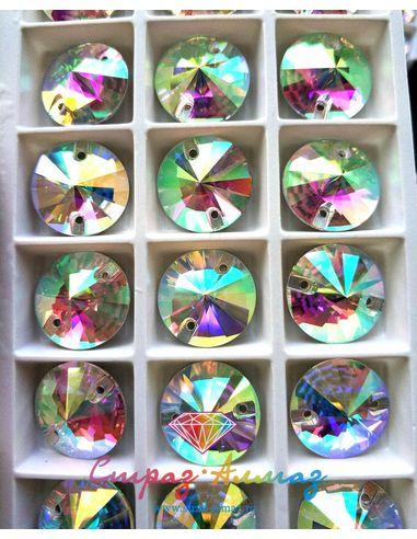 Риволи 16 мм. кристалл АВ 1 пачка (72 шт).