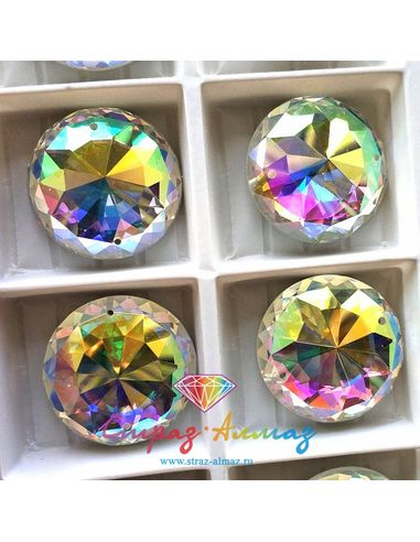 Круг бэст-супер 25 мм. кристалл АВ 1 пачка (24 шт).