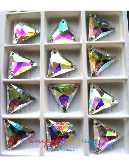 Треугольник 16 мм. кристалл АВ 1 пачка (72 шт).