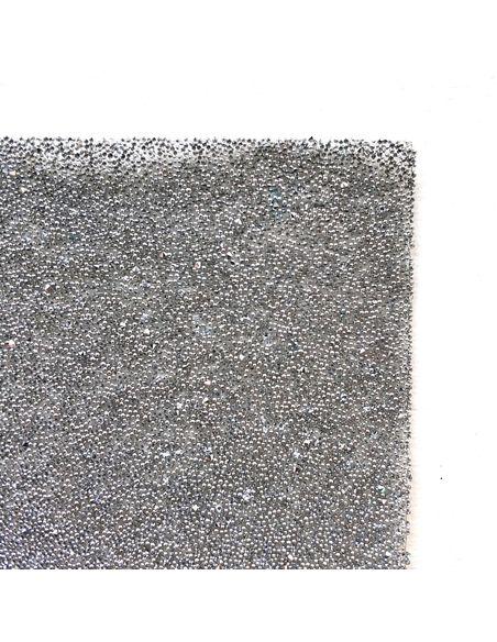Кристальная ткань 4*4 см, цвет Серебро