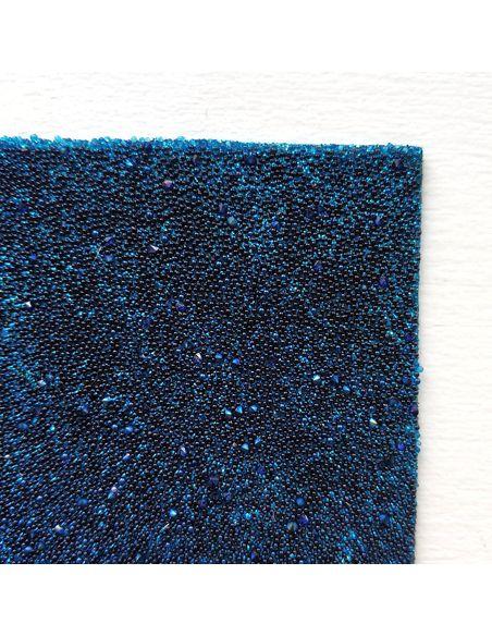 Кристальная ткань 4*4 см, цвет Синий