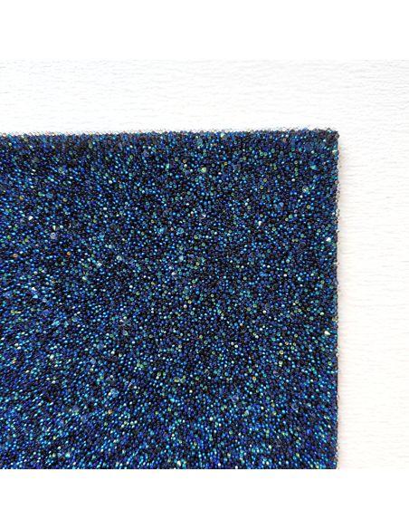 Кристальная ткань 4*4 см, цвет Синий АВ