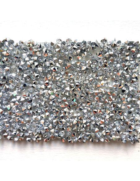 Кристальная ткань 5*4 см, цвет Серебро