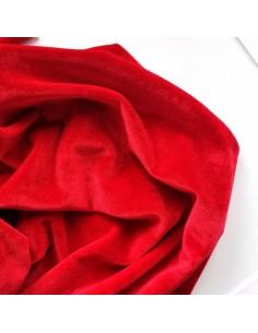 Бархат стрейч 20*20 см Красный