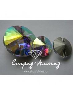 Пуговица, кристалл АВ, 30 мм.