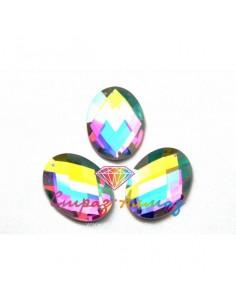 Овал, кристалл АВ, 22*30...