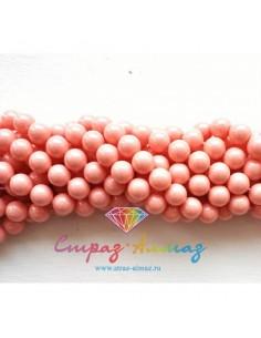 Жемчуг 6 мм. Pink coral (716)