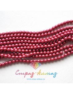 Жемчуг 4 мм. Mulberry Pink...