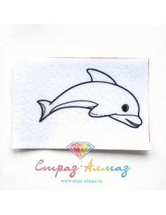 """Шаблон для броши """"Дельфин"""""""