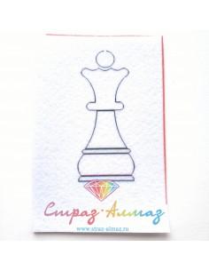 "Шаблон для броши ""Шахматная..."
