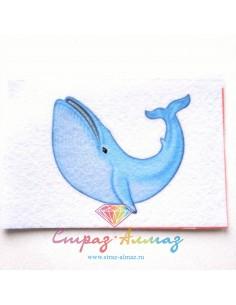 """Шаблон для броши """"Голубой кит"""""""