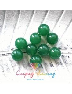 Агат зеленый, 12 мм.