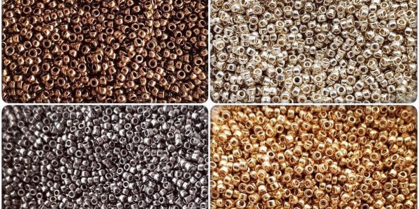 Бисер TOHO, как правильно выбрать цвет металлик.